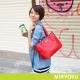 MIRYOKU-質感斜紋系列-輕巧可愛簡潔兩用包-紅