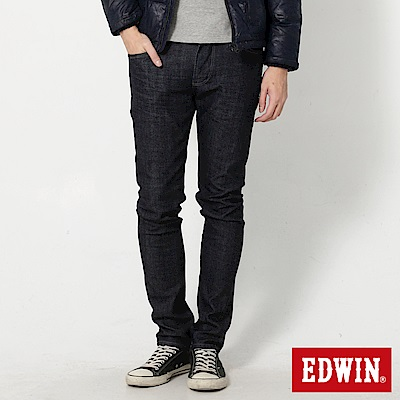 EDWIN EDGE雙口袋窄直筒牛仔褲-男-原藍色