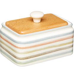 KitchenCraft 木蓋奶油盤(復古條紋)