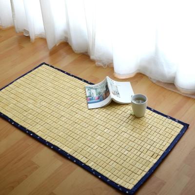 絲薇諾  3D透氣包邊專利麻將竹坐墊(藍色邊/二人座52×110cm)