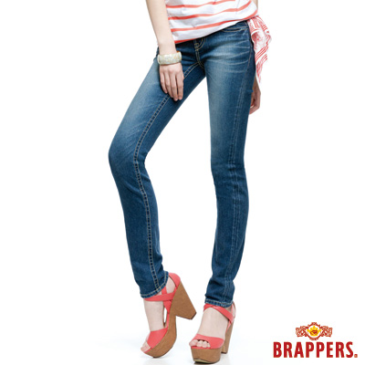 BRAPPERS 女款 女款 新美腳Royal系列-女用彈性保暖AB褲-藍