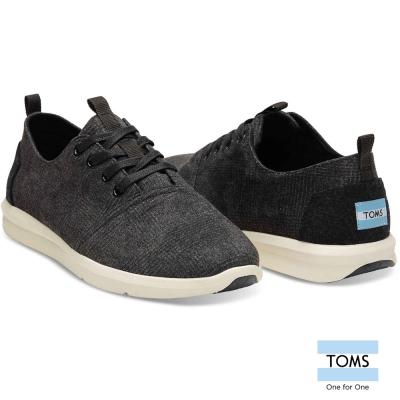 TOMS 毛呢細格織紋休閒鞋-男款