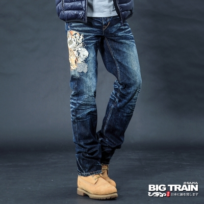 BIG TRAIN 墨達人鯉小直筒-男-中藍