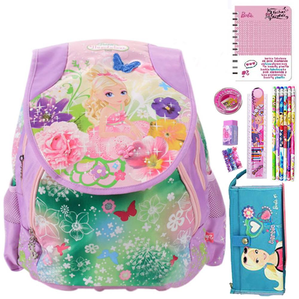 芭比Barbie 拇指芭比後背包文具8件組