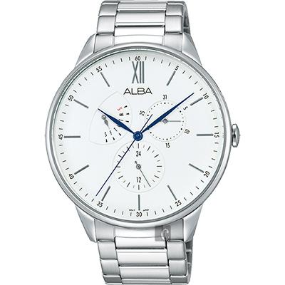 ALBA  年輕時代日曆腕錶(AZ8009X1)-銀/45mm