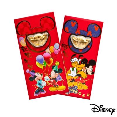 Disney迪士尼系列金飾-黃金元寶紅包袋-兩小無猜+最佳拍檔款