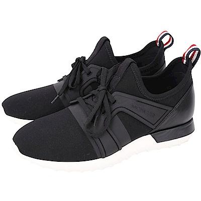 MONCLER Emilien 太空棉拼接繫帶運動鞋(黑色)