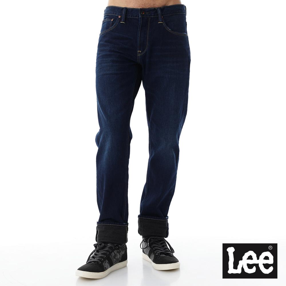 Lee 牛仔褲 735 101+中腰舒適小直筒-男款-藍