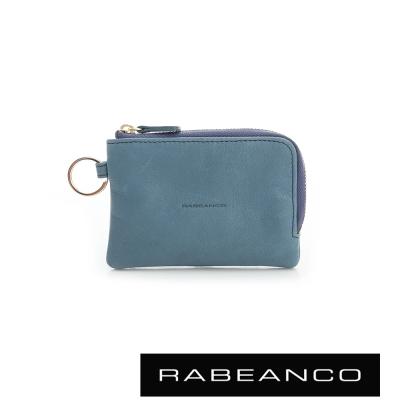 RABEANCO 經典小牛皮萬用鑰匙零錢包 – 天藍