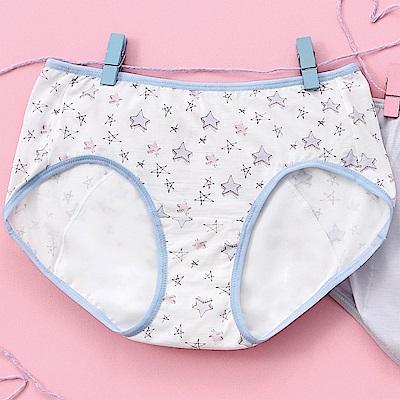嬪婷 生活應援 M-LL日間型生理褲(星星藍)咖啡牛奶纖維