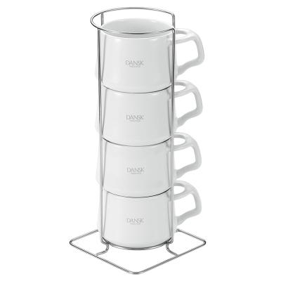 DANSK 陶瓷迷你馬克杯(4件組●白色)