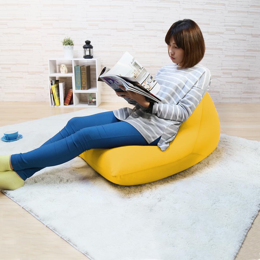 H&D 鮮豔三角錐懶骨頭/懶人沙發-黃色