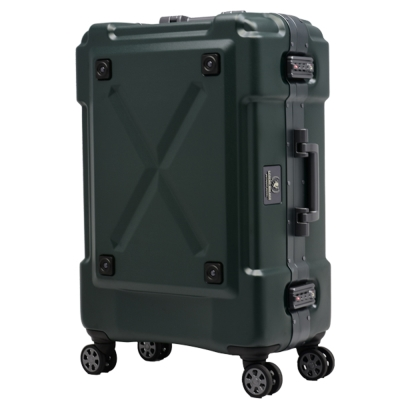 日本 LEGEND WALKER 6302-62-26吋 鋁框密碼鎖輕量行李箱 消光綠