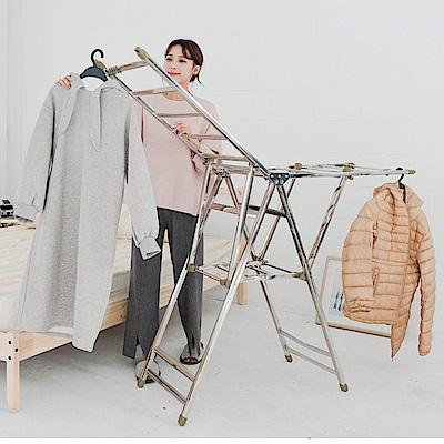 米夢家居-蝴蝶展翼型不鏽鋼曬衣架/晒衣台-重5.8公斤