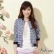 Victoria 格紋短版小外套-女-藍白 product thumbnail 1