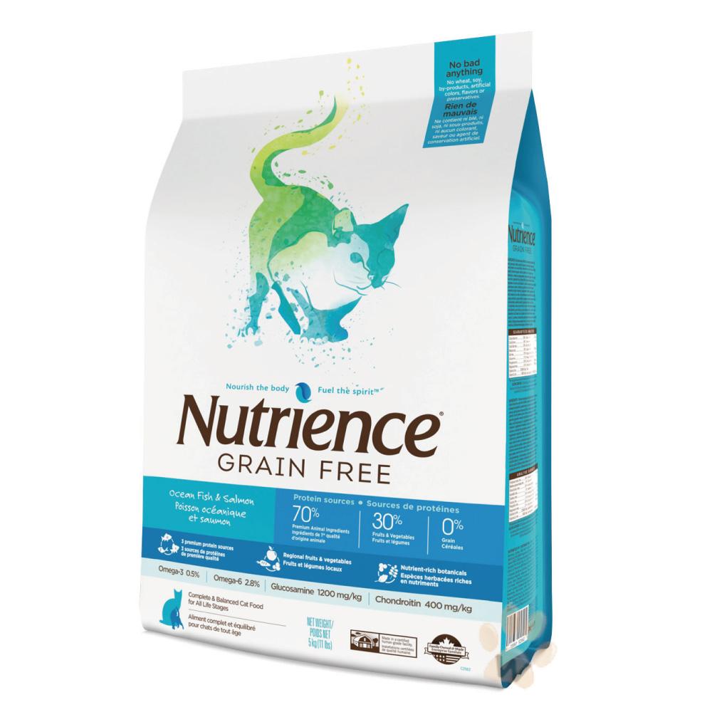 美國Nutrience紐崔斯 無穀多種鮮魚貓糧 5kg 1入