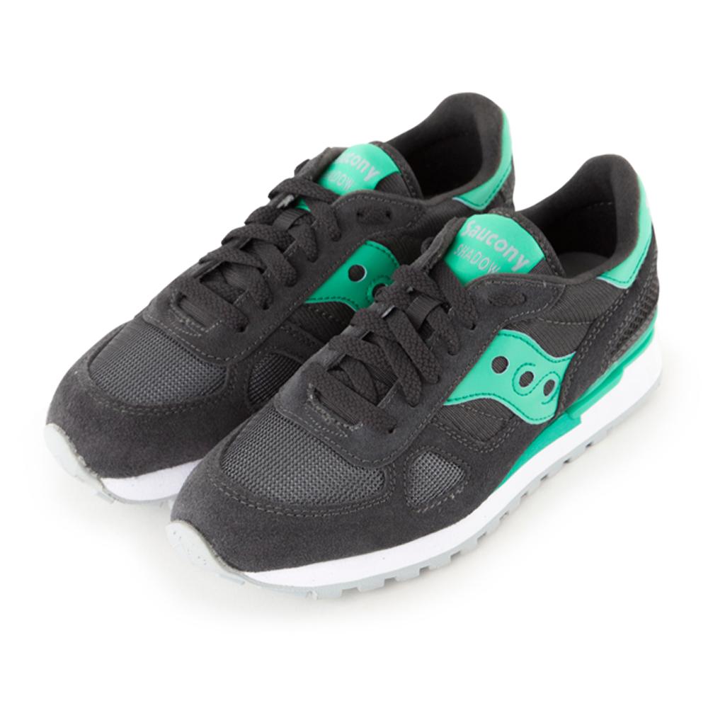 (女) 美國 SAUCONY 經典時尚休閒輕量慢跑球鞋-碳灰綠