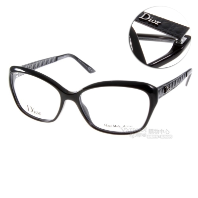 DIOR眼鏡 仿皮革壓紋系列/經典黑#CD3221 ACZ