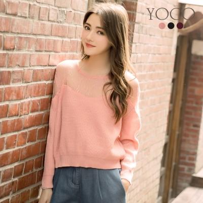 東京著衣-yoco 微性感多色鏤空蕾絲針織毛衣-S.M.L(共三色)