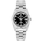 ROSDENTON 勞斯丹頓典藏旋風晶鑽機械手錶-黑X銀/35mm