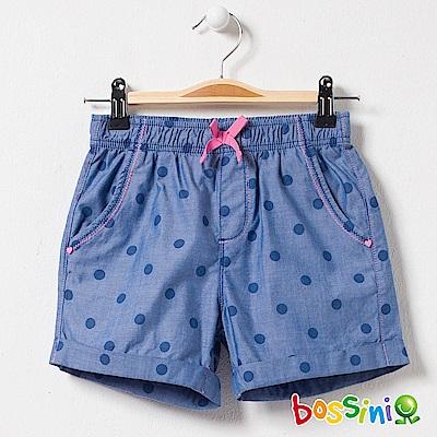 bossini女童-印花輕便短褲02靛藍