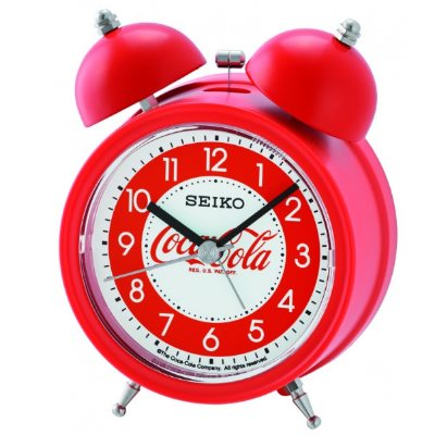 SEIKO 日本精工 響鈴聲 靜音 貪睡鬧鐘(QHK905R)-紅/11.1X8.4cm
