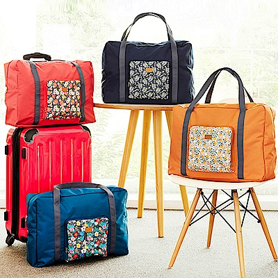 DF Queenin - 活潑系折疊式大容量手提肩背旅行袋-共3色