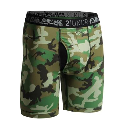 2UNDR Gear Shift 極限運動快乾貼身內褲(9吋)-綠迷彩
