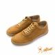 SOFTINOS-HAPPY FEET 牛皮綁帶線條休閒鞋 - 棕 product thumbnail 1