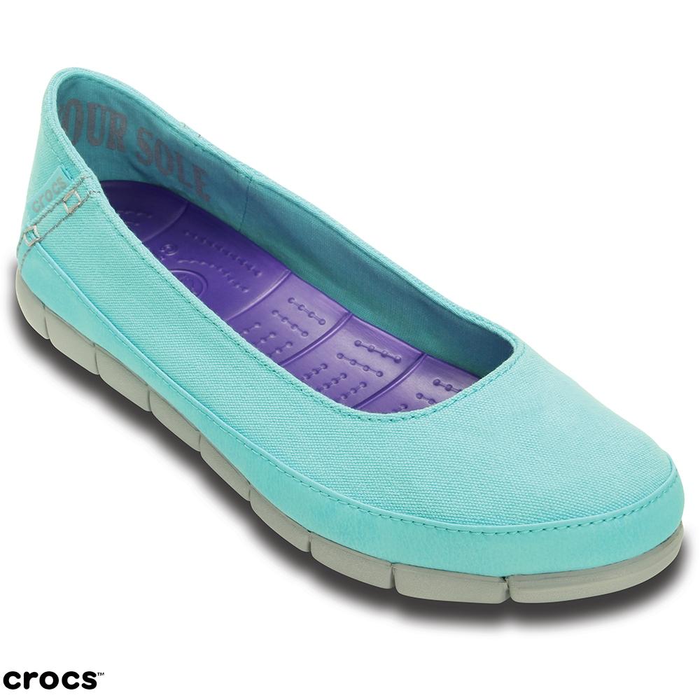 Crocs 卡駱馳 (女) 舒躍奇平底鞋-15317-4DL