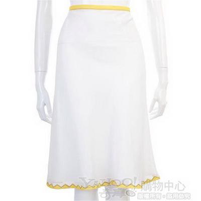 PHILOSOPHY-AF 白色色彩滾邊及膝裙