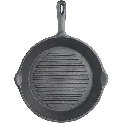 KitchenCraft 鑄鐵煎烤盤(圓凸紋)