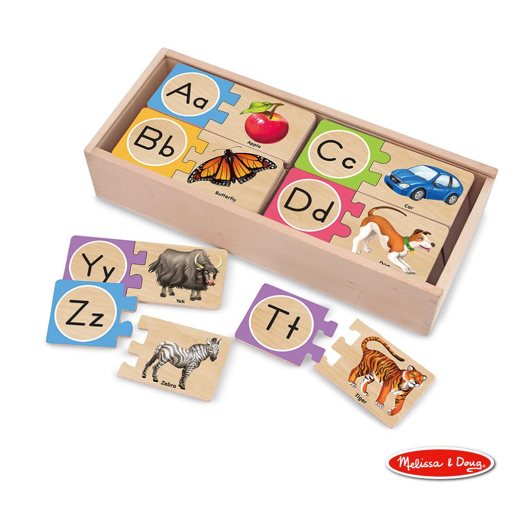 【Melissa & Doug 瑪莉莎】益智 - 英文對照學習拼圖卡
