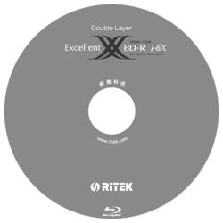 錸德 Ritek 藍光 X版 BD-R 6X DL 50GB 可燒錄光碟片(10片)