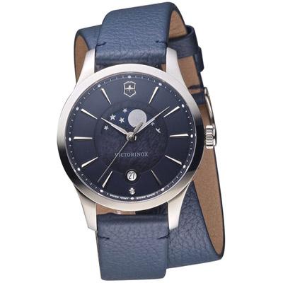 維氏 VICTORINOX ALLIANCE 腕錶系列 -藍/皮帶/35mm