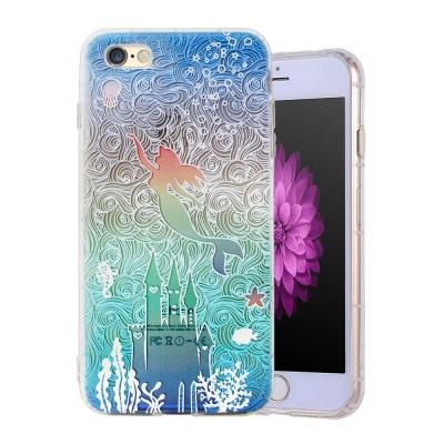 VXTRA彩繪童話 iPhone 8/iPhone 7 漸層浮雕空壓殼(人魚公主...