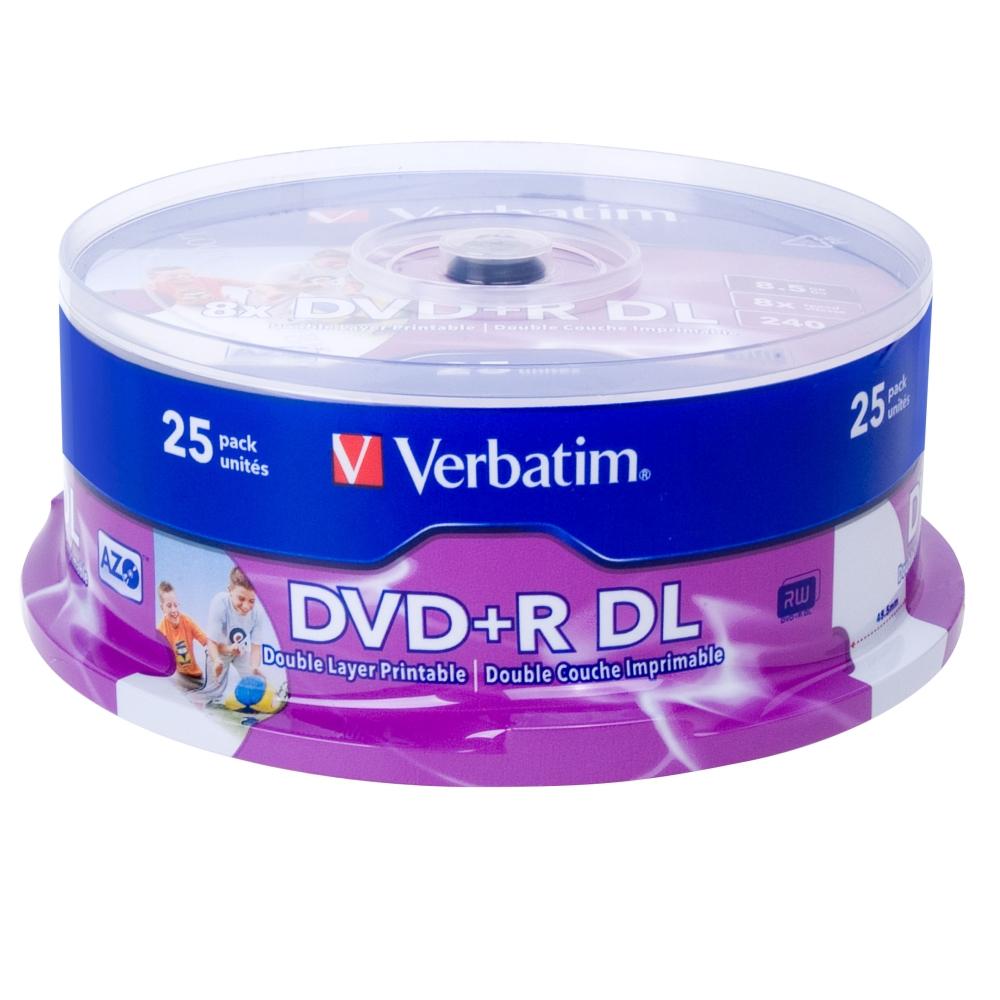 威寶 國際版 8X DVD+R DL 珍珠白滿版可印 桶裝 (25片)
