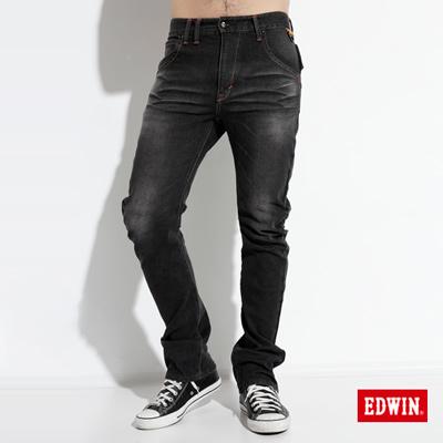 【EDWIN】大尺碼 E-F ZERO伸縮中直筒牛仔褲-男款(灰色)