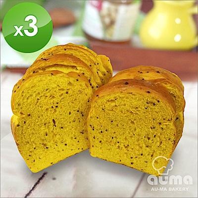 奧瑪烘焙健康ㄟ吐司-紅藜麥薑黃吐司X3入