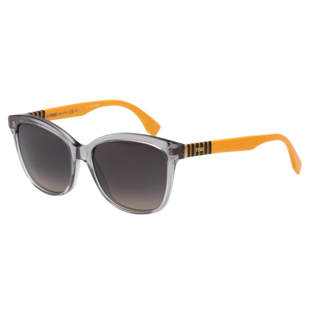 FENDI 時尚造型太陽眼鏡 (透明灰色)FF0054S