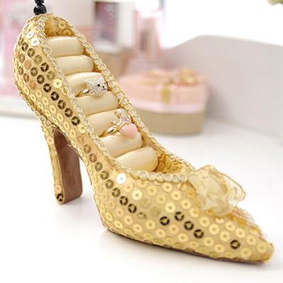 Aimee Toff 金色夢想灰姑娘高跟鞋飾品架
