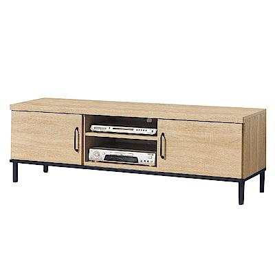 品家居  安奇可5尺橡木紋長櫃/電視櫃-151.2x40x49cm免組