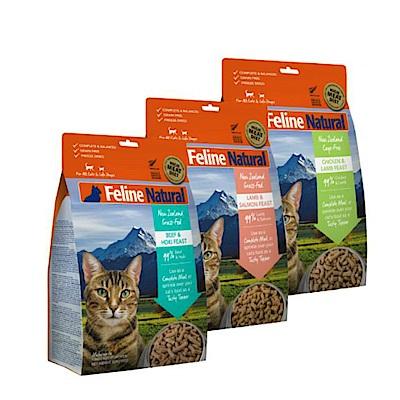 紐西蘭 K9 Natural 貓咪生食餐 (冷凍乾燥) 320G三件組