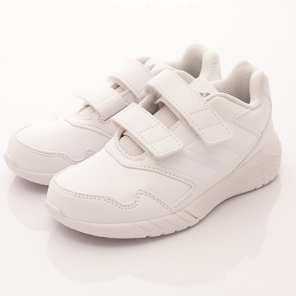 adidas童鞋 簡約純白運動款 BASE902白(中大童段)HN