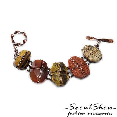 【Seoul Show】神秘魔法石 人工寶石仿舊手鍊