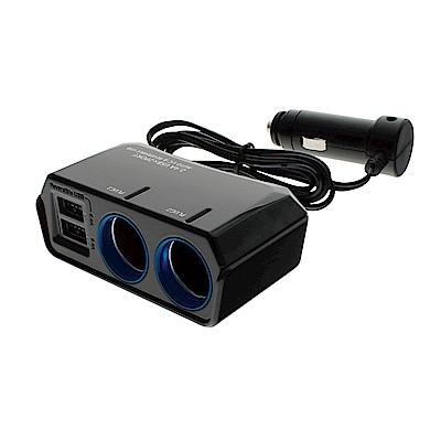 YAC 4.8A雙USB冷光雙孔延長插座(PZ-791)-急速配