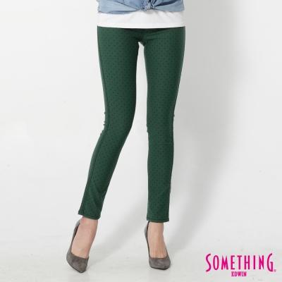 SOMETHING LADIVA點點合身牛仔褲-女-綠色