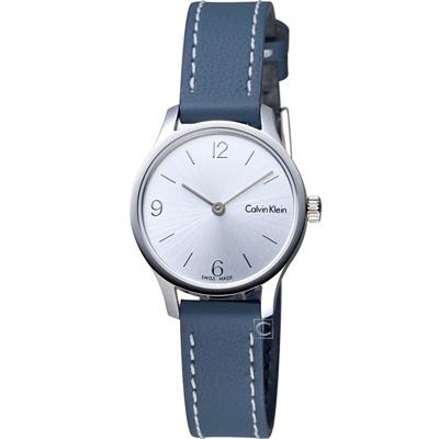Calvin Klein Endless 摩登時尚細緻女錶-白x藍色錶帶/26mm