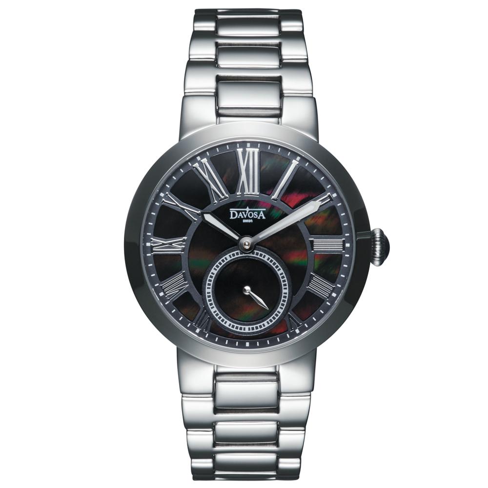 DAVOSA Calypso 小秒針時尚腕錶-黑/35mm