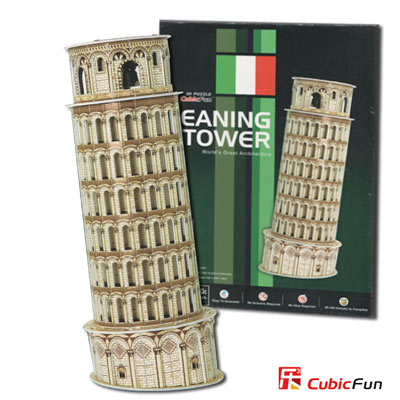 Cubic Fun 智慧 3 D立體拼圖『意大利-比薩斜塔』